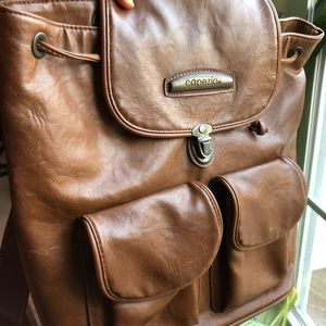 Vintage leather backpack with lots of storage